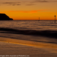 Buy canvas prints of Sunrise Towards Orcombe Point - Exmouth by Pete Hemington