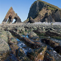 Buy canvas prints of Blackchurch Rock - N Devon by Pete Hemington
