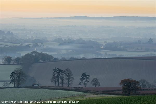 Misty morning view Acrylic by Pete Hemington
