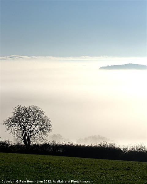 Peeping through the mist Acrylic by Pete Hemington