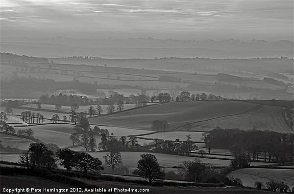 Mid Devon morning - 2 of 2 Acrylic by Pete Hemington