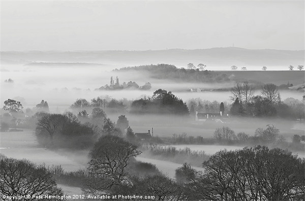 Mist in the Exe Valley Canvas print by Pete Hemington