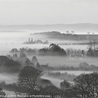 Buy canvas prints of Mist in the Exe Valley by Pete Hemington