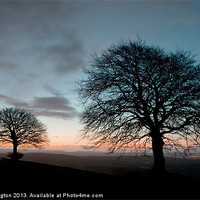 Buy canvas prints of New Years Dawn on Yarde Downs by Pete Hemington