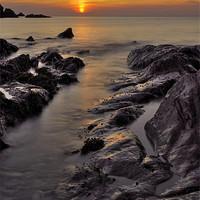 Buy canvas prints of Lee Bay sunset by Pete Hemington