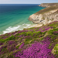 Buy canvas prints of Cornish coast near Porthtowan by Pete Hemington