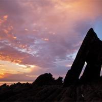 Buy canvas prints of Blackchurch Rock, N Devon - 1 of 2 by Pete Hemington