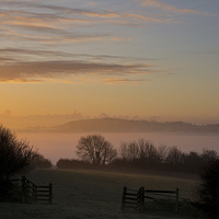 Buy canvas prints of Sunrise over the Culm Valley by Pete Hemington