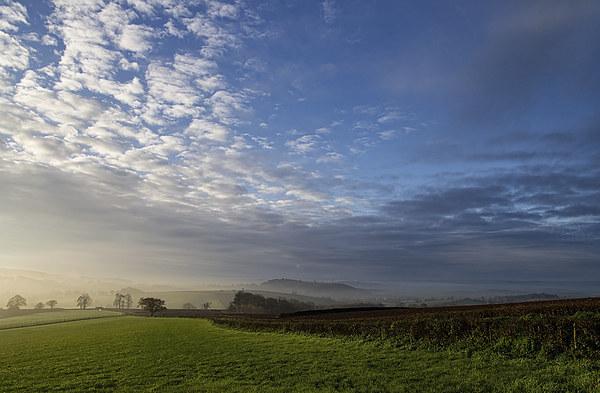 Mid Devon View Acrylic by Pete Hemington