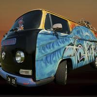 Buy canvas prints of Camper van paint job by Pete Hemington