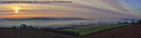 Sunrise over the Culm valley Acrylic by Pete Hemington