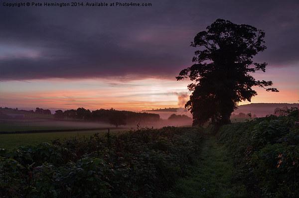 Hele Payne farm at dawn Acrylic by Pete Hemington