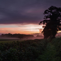 Buy canvas prints of  Hele Payne farm at dawn by Pete Hemington