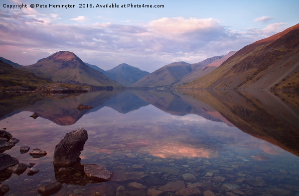 Twilight at Wastwater in Cumbria Acrylic by Pete Hemington