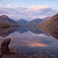 Buy canvas prints of Twilight at Wastwater in Cumbria by Pete Hemington