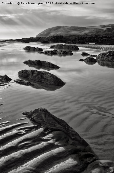 Croyde beach in North Devon Canvas Print by Pete Hemington