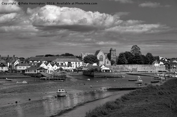 Topsham Waterfront in Devon Canvas print by Pete Hemington