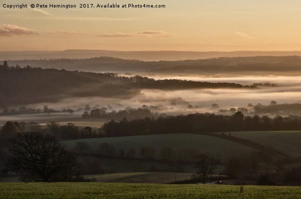 Mid Devon valleys Acrylic by Pete Hemington