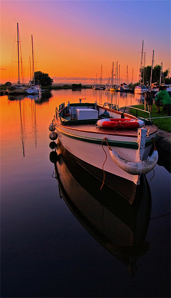 Boats on the Exeter Canal Canvas Print by Pete Hemington