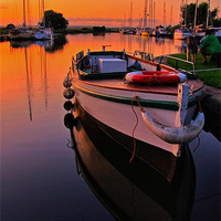 Buy canvas prints of Boats on the Exeter Canal by Pete Hemington