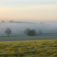 Buy canvas prints of Hill tops in the mist by Pete Hemington