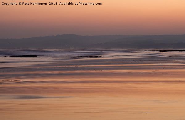 Exmouth beach at sunset Canvas print by Pete Hemington