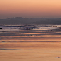 Buy canvas prints of Exmouth beach at sunset by Pete Hemington
