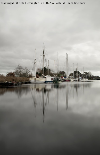 Exeter Canal Canvas print by Pete Hemington