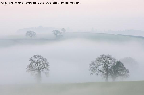 Misty Devon Morning Print by Pete Hemington
