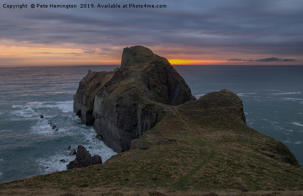 Gull Rock near Hartland in Devon Canvas Print by Pete Hemington
