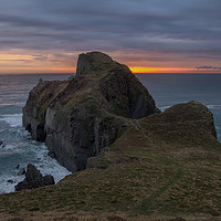 Buy canvas prints of Gull Rock near Hartland in Devon by Pete Hemington