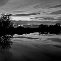 Buy canvas prints of Exeter Canal at twlight by Pete Hemington