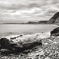 Buy canvas prints of Salcombe Mouth near Sidmouth by Pete Hemington