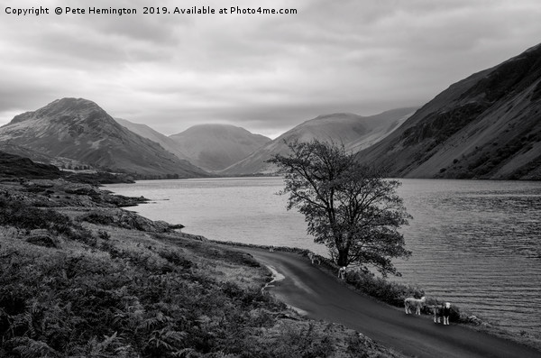 Wastwater in Cumbria Canvas print by Pete Hemington