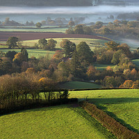 Buy canvas prints of Mist in Mid Devon by Pete Hemington
