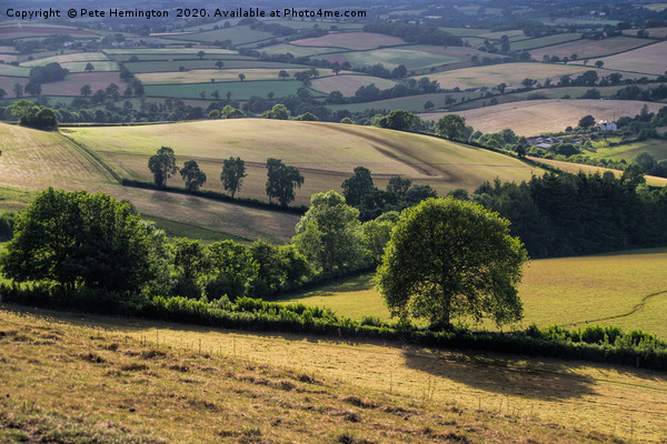 View from Raddon Hill Framed Mounted Print by Pete Hemington