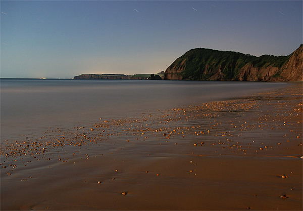 SIdmouth in Moonlight Canvas Print by Pete Hemington