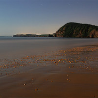 Buy canvas prints of SIdmouth in Moonlight by Pete Hemington