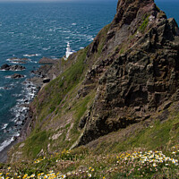 Buy canvas prints of Hartland Point and Lundy Island by Pete Hemington