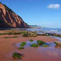 Buy canvas prints of Sidmouth West Beach by Pete Hemington