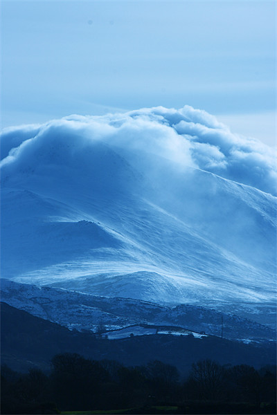 Magical Mountains II Canvas Print by lucy devereux