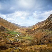 Buy canvas prints of The Ogwen Valley  by lucy devereux