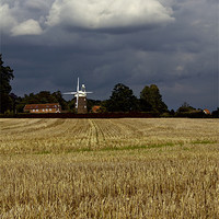 Buy canvas prints of Old Bukenham Windmill Norfolk by Darren Burroughs