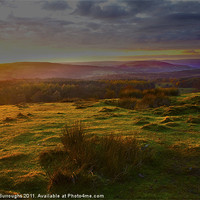 Buy canvas prints of A Peak District Sunset by Darren Burroughs