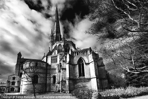 Norwich Cathedral Canvas print by Darren Burroughs