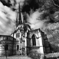 Buy canvas prints of Norwich Cathedral by Darren Burroughs