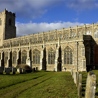 Buy canvas prints of Most Holy Trinity, Blythburgh by Darren Burroughs