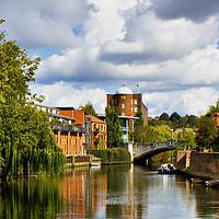 Buy canvas prints of Norwich Riverside by Darren Burroughs