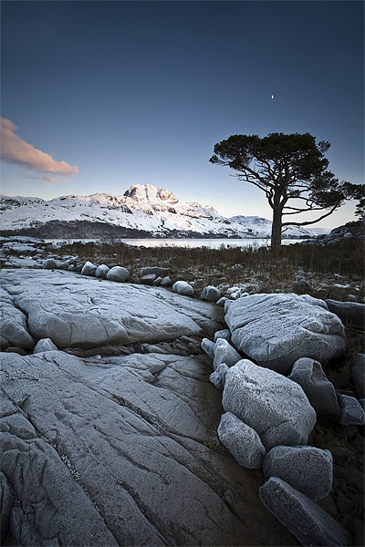 Frosted Slioch Canvas print by Alpoa Images