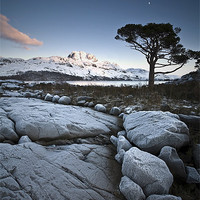 Buy canvas prints of Frosted Slioch by Alpoa Images